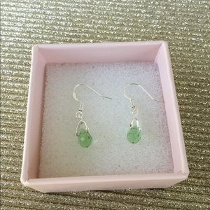 Jewelry - Peridot crystal drop sterling Silver Earrings